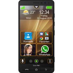 Beafon M5 smartphone pro seniory nabíjecí stanice, tlačítko SOS černá