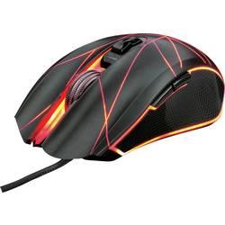 Optická herní myš Trust GXT160 Ture Illuminated 22332, s podsvícením, USB konektor, černá