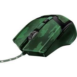 Optická herní myš Trust GXT101D Gav Optical Jungle Camo 22793, ergonomická, zelená