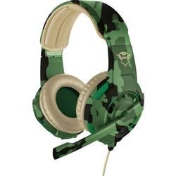 Trust GXT310C Radius Jungle Camo herní headset na kabel na uši, jack 3,5 mm, maskáčová