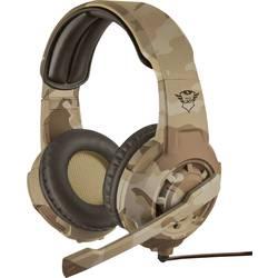 Trust GXT310D Radius Desert Camo herní headset na kabel na uši, jack 3,5 mm, hnědá