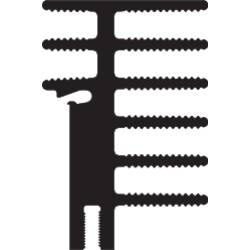 Chladič Fischer Elektronik SK 481 50 SA + 2X THFU 2, 50 x 30 x 45 mm, 4,2 K/W, hliník, černá