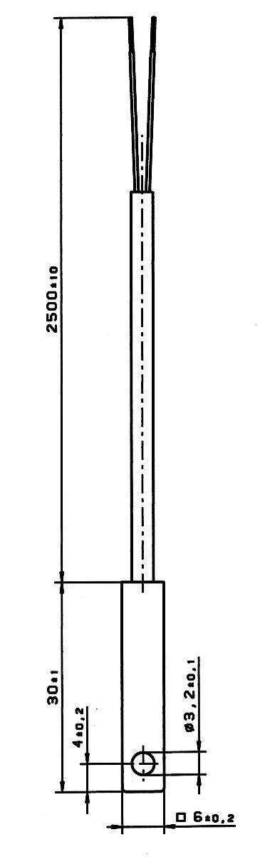 Senzor povrchovej teploty PT100