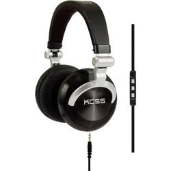 DJ sluchátka On Ear KOSS PRODJ200 145179839, černá, stříbrná
