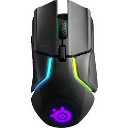 Optická herní myš Steelseries RIVAL 650 62456, ergonomická, s podsvícením, úprava hmotnosti, odnímatelný kabel, černá, RGB