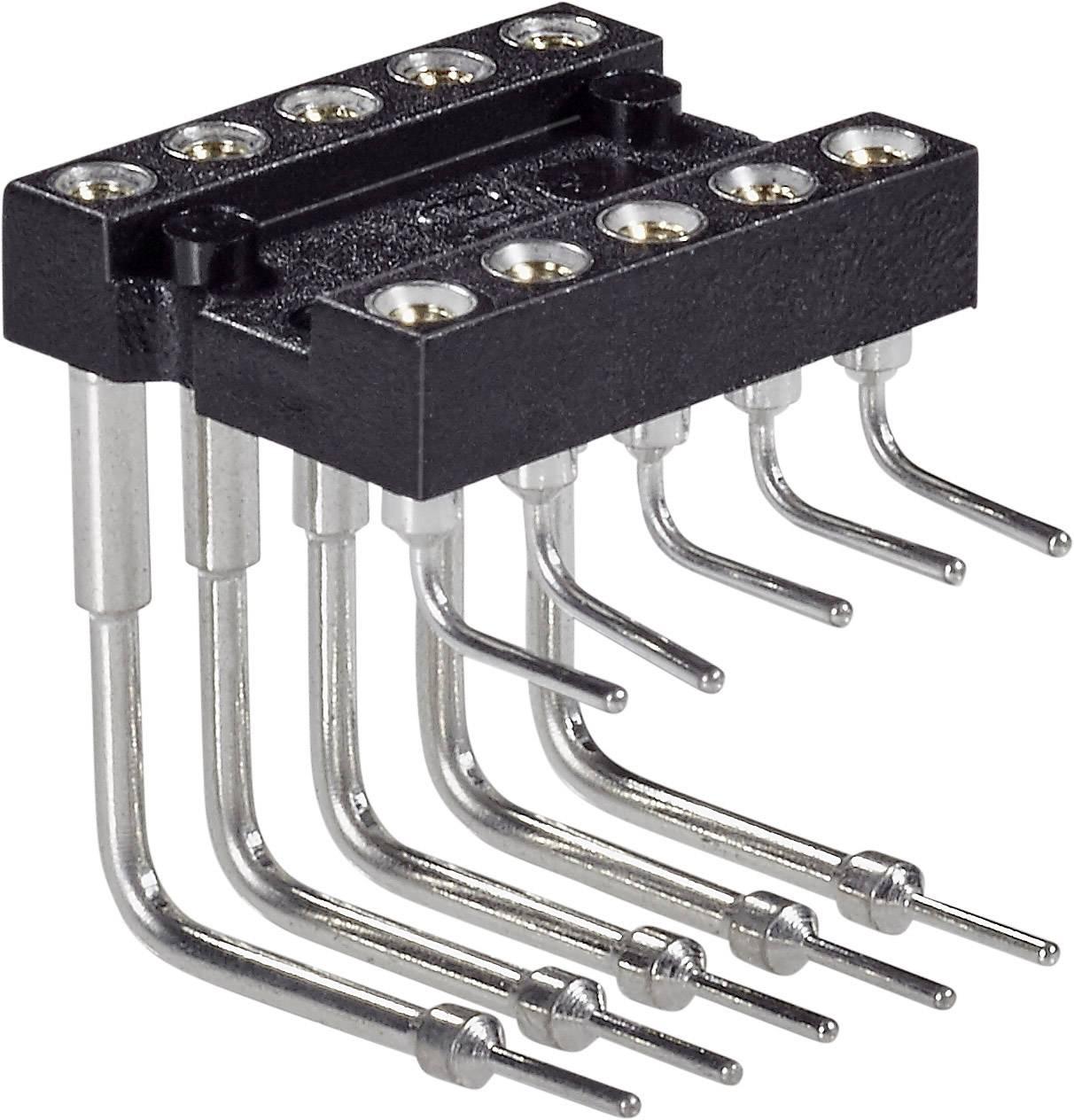 IC pätica Preci Dip 299-87-314-10-001101 piny v uhle 90 °, rozteč 7.62 mm, pólů 10, 1 ks