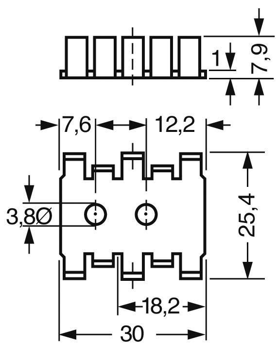 Chladič Fischer Elektronik FK 210/SA-CB, 30 x 7,9 x 25,4 mm, 18 kW