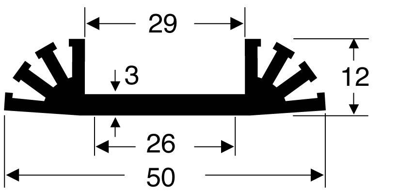 Chladič Fischer Elektronik SK 31 50 SA 10019727, 6.8 K/W, (d x š x v) 50 x 50 x 12 mm