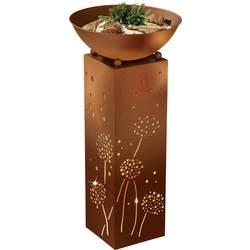 LED venkovní dekorativní osvětlení stojan s pampeliškou easymaxx teplá bílá, rezavá