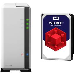 NAS server Synology DiskStation DS119J-2TB-RED, 2 TB, vybavený s WD RED