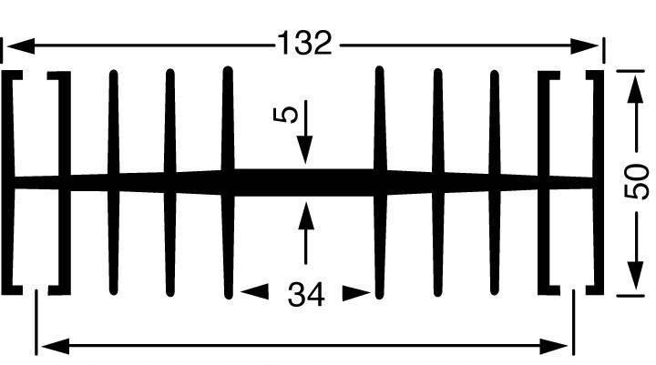 Chladič Fischer Elektronik SK 148 100 SA, 1.1 K/W, (d x š x v) 100 x 132 x 50 mm