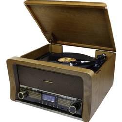 USB gramofon soundmaster NR50, řemínkový pohon, dub
