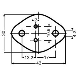 Sľudová podložka Fischer Elektronik GS 3, (d x š) 43 mm x 30 mm, vhodné pro TO-3, 1 ks