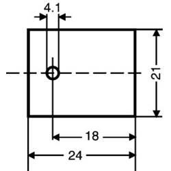Slídová podložka Fischer Elektronik GS 218, (d x š) 24 mm x 21 mm, vhodné pro TO-218 , 1 ks