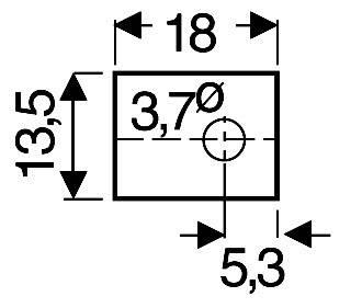 Slídová podložka Fischer Elektronik GS 66 P, (d x š) 18 mm x 13.5 mm, vhodné pro TOP-66 , 1 ks