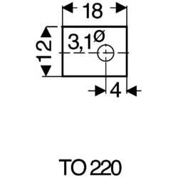Sľudová podložka Fischer Elektronik GS 220 P, (d x š) 18 mm x 12 mm, vhodné pro TO-220, 1 ks