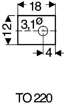 Slídová podložka Fischer Elektronik GS 220 P, (d x š) 18 mm x 12 mm, vhodné pro TO-220, 1 ks