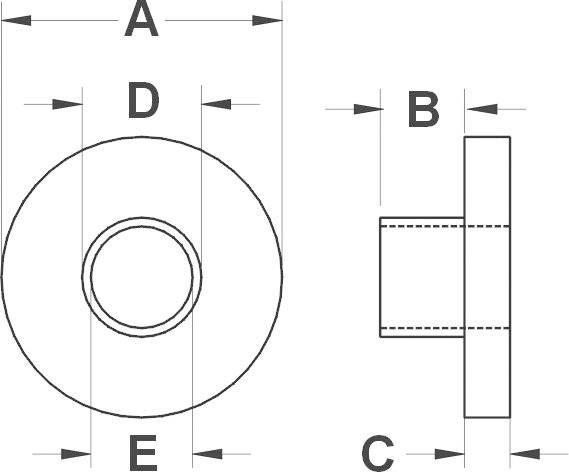 Izolační průchodka KSS TW133A, 12,7/3,7 mm