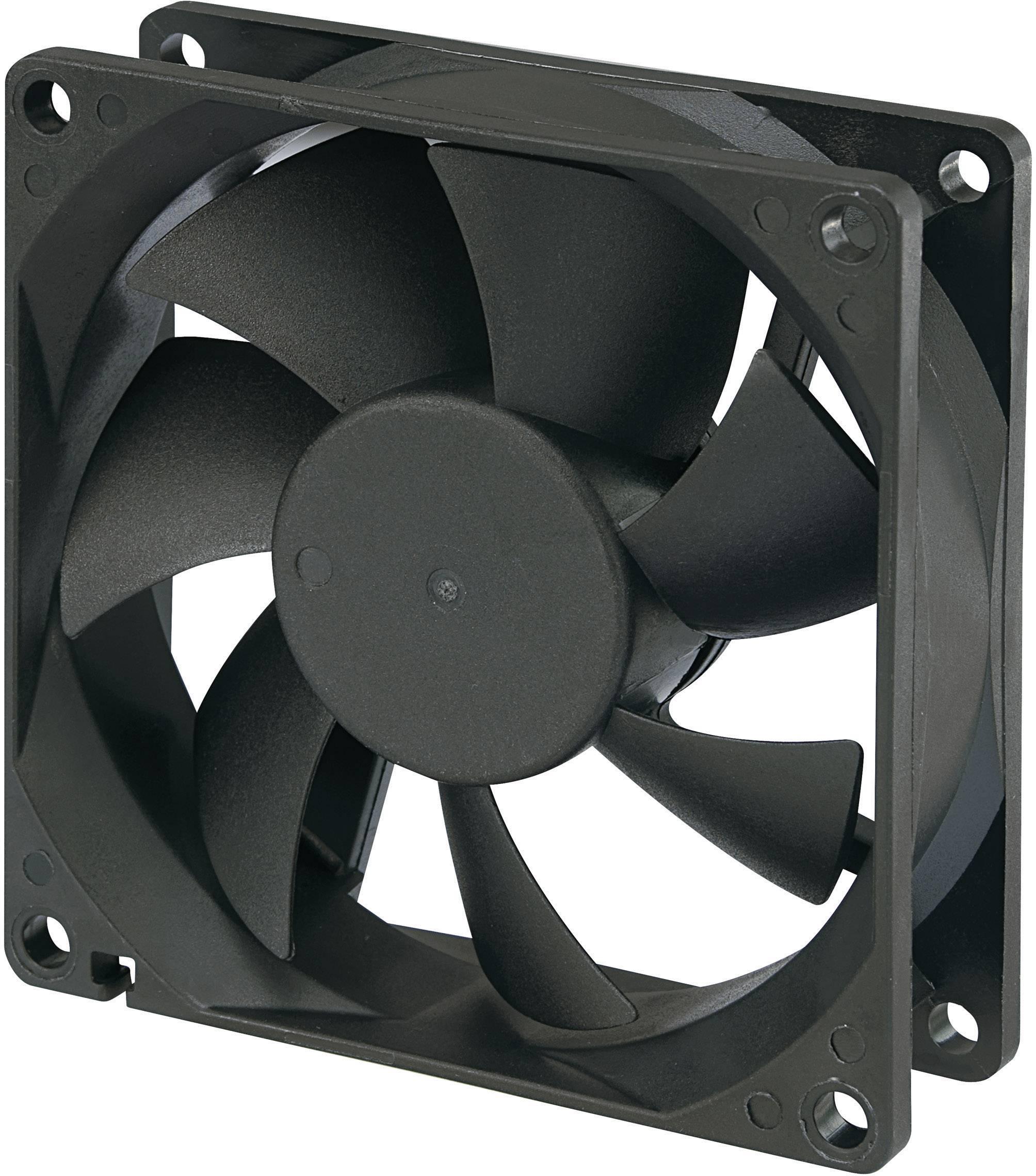 Voděodolný axiální ventilátor, RD8025B24L, 24 V, 25 dBA, 80 x 80 x 25 mm