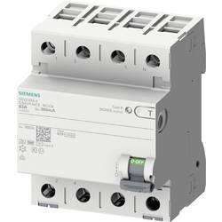 Ochranný proudový spínač Siemens 5SV36464KK14, 63 A 0.3 A 400 V 4pólový