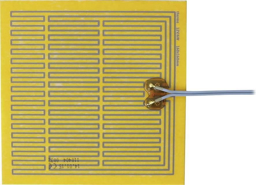 Tepelná fólie samolepicí Thermo 12 V/DC, 12 V/AC, 6 W, krytí IPX4, (d x š) 160 mm x 160 mm
