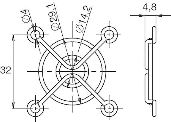 Ochranná mřížka ventilátoru Panasonic ASFN48001, 40 mm x 40 mm