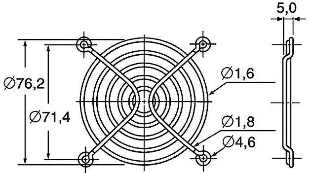 Ochranná mřížka ventilátoru Panasonic ASFN88001, 80 mm x 80 mm