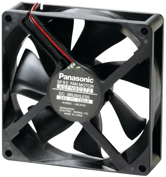 Axiálny ventilátor Panasonic ASFN94391 ASFN94391, 12 V/DC, 22 dB, (d x š x v) 92 x 92 x 25 mm
