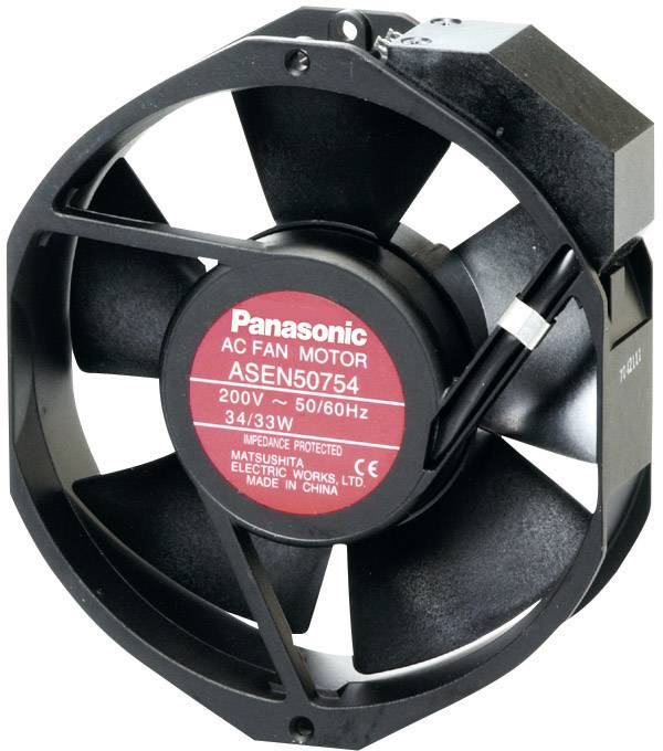 Axiálny ventilátor Panasonic ASEN50756 ASEN50756, 230 V/AC, 56 dB, (d x š x v) 172 x 150 x 38 mm