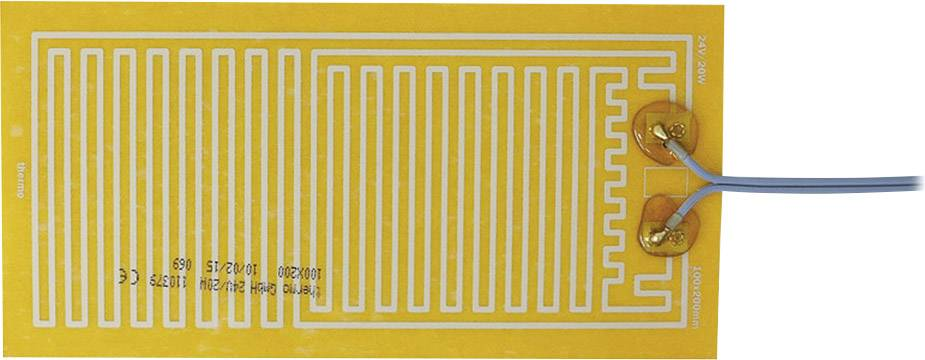 Tepelná fólia samolepiaci Thermo 2125253, 24 V/DC, 24 V/AC 20 W Spôsob ochrany IPX4, (d x š) 200 mm x 100 mm