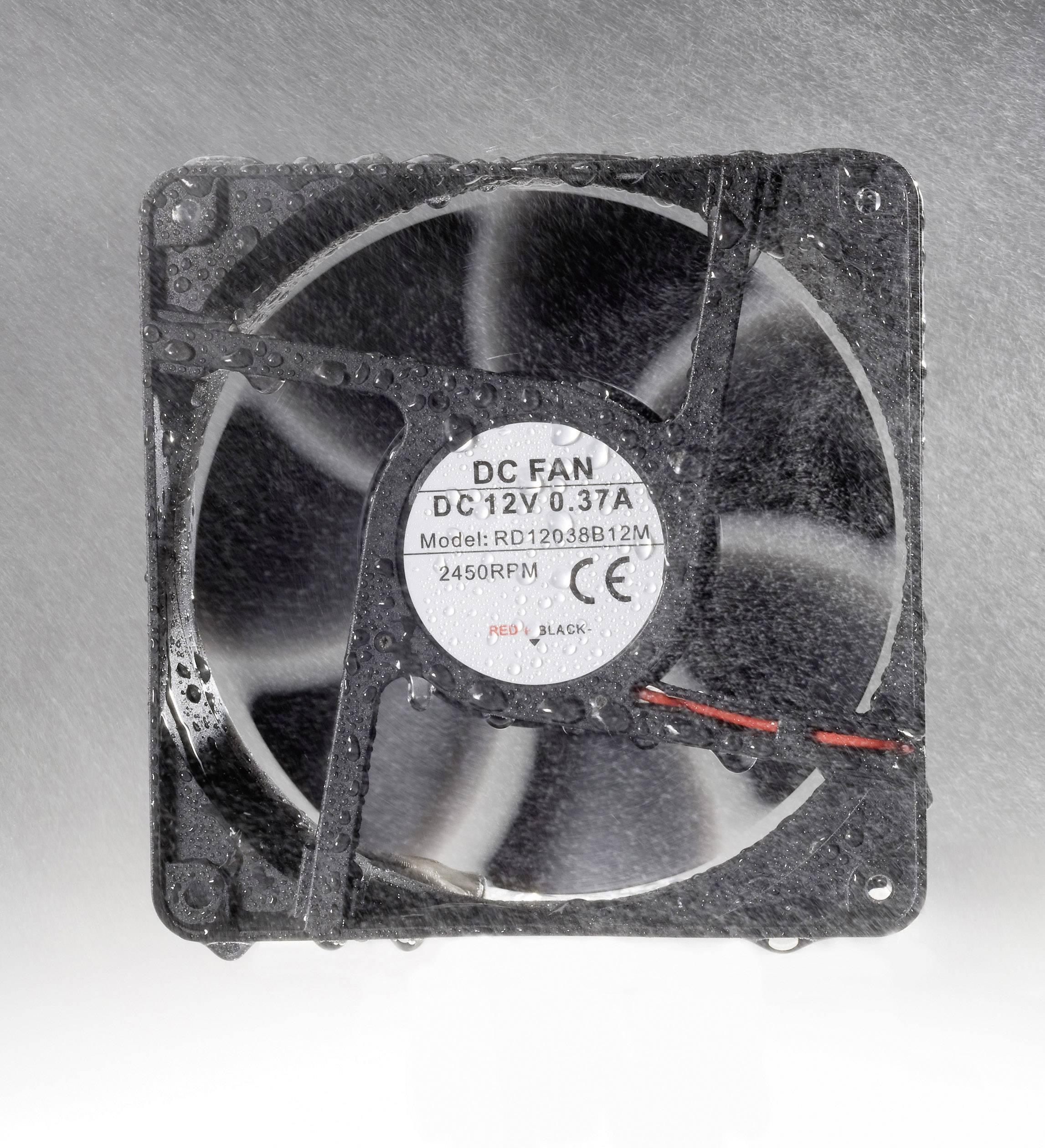 Voděodolný axiální ventilátor, RD8025B12H, 12 V, 32 dBA, 80 x 80 x 25 mm