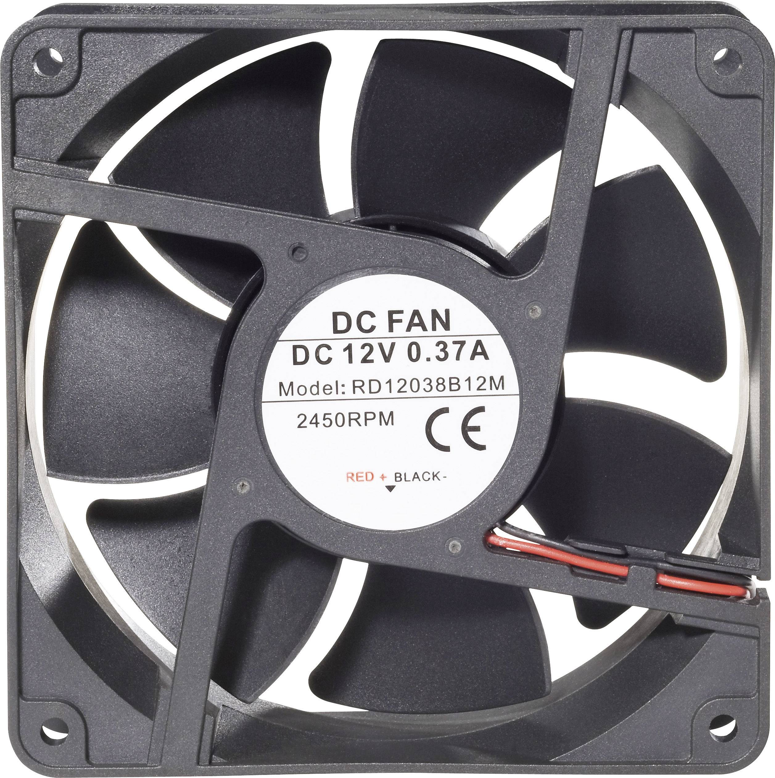 Axiálny ventilátor Conrad Components RD12038B12M 189263, 12 V/DC, 41 dB, (d x š x v) 120 x 120 x 38 mm