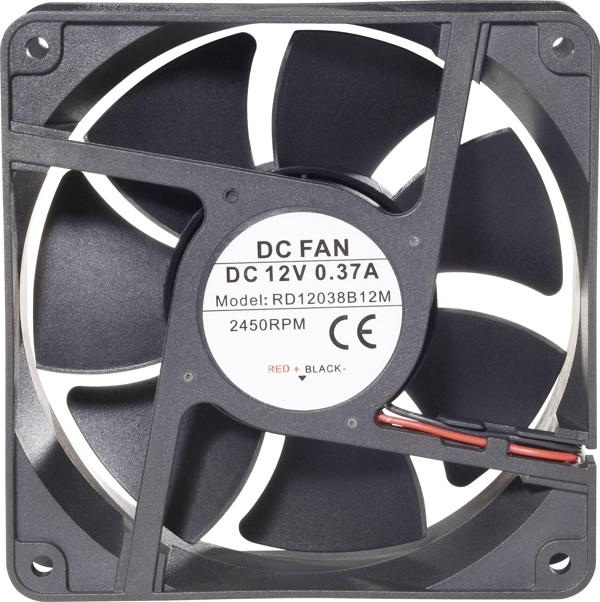Axiálny ventilátor Conrad Components RD12038B24L 189264, 24 V/DC, 34 dB, (d x š x v) 120 x 120 x 38 mm