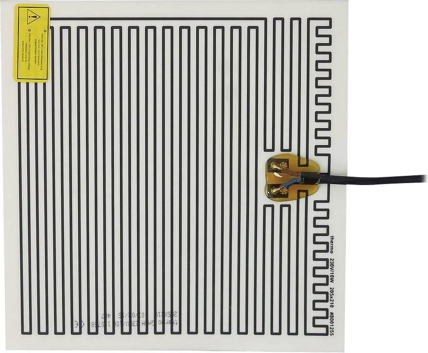 Tepelná fólia samolepiaci Thermo 2145255, 230 V 10 W Spôsob ochrany IPX4, (d x š) 210 mm x 205 mm