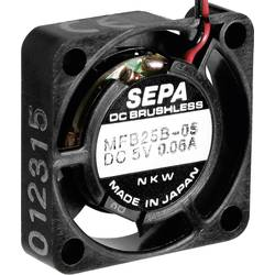 Axiální ventilátor SEPA MFB25B12 MFB25B12-BLI, 12 V/DC, 17 dB, (d x š x v) 25 x 25 x 6.5 mm