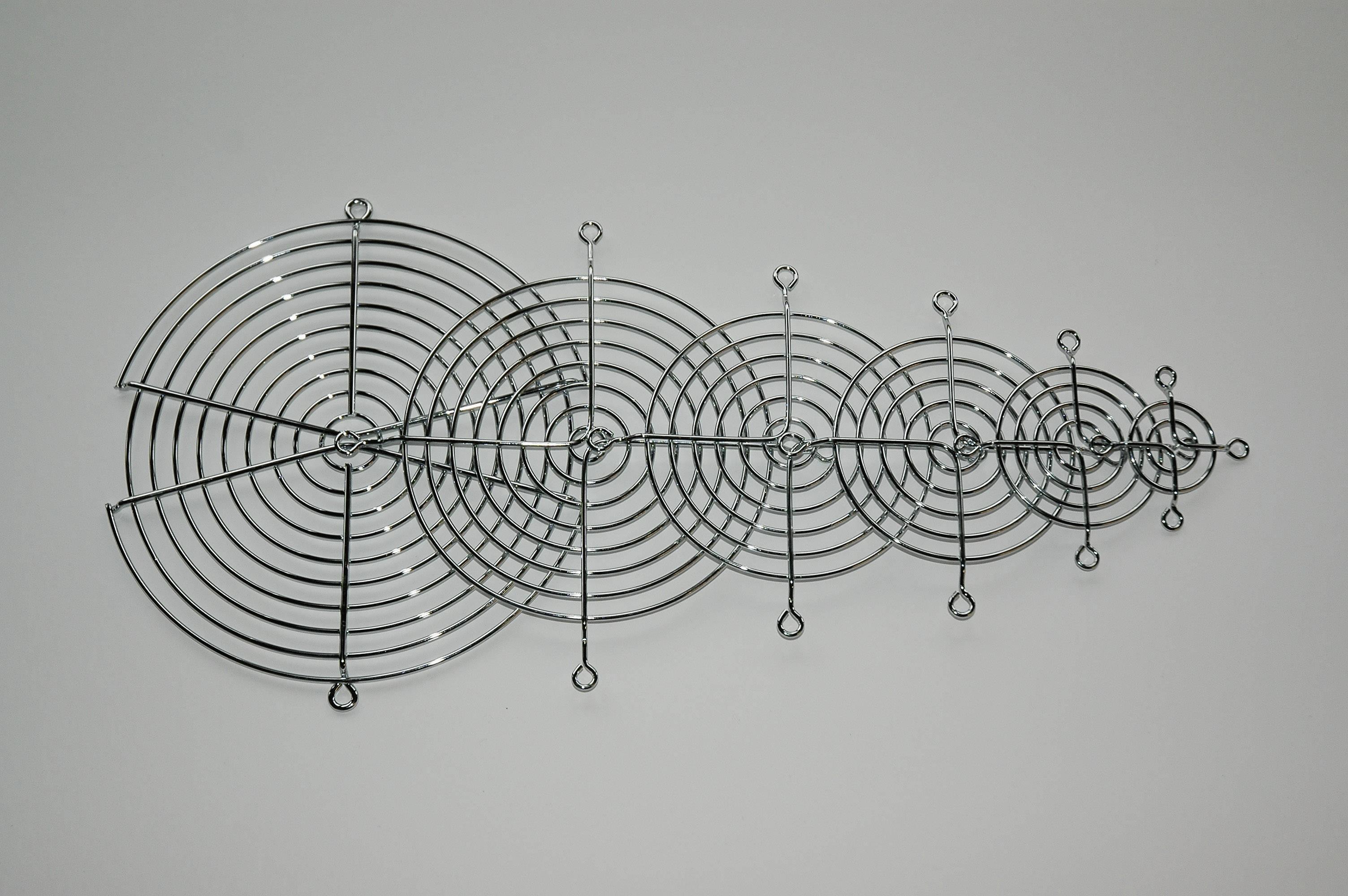 Vetracia mriežka FG-09, (š x v) 92 mm x 92 mm, 1 ks, kov