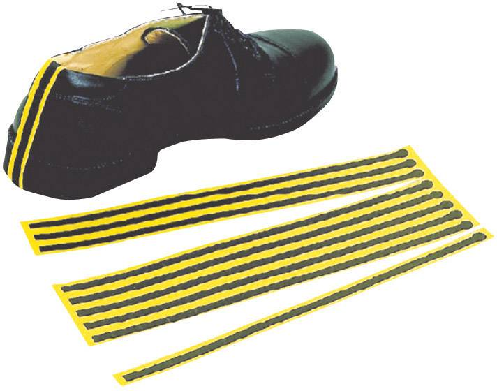 ESD jednorázové zemnící pásky na boty BJZ, 10 ks, žlutá, černá