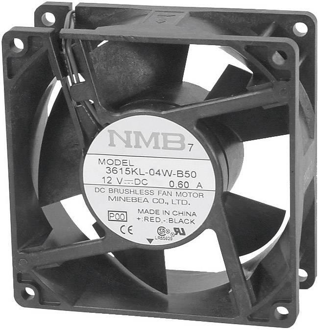 Axiálny ventilátor NMB Minebea 3610KL-04W-B50-P00 3610KL-04W-B50-P00, 12 V/DC, 41 dB, (d x š x v) 92 x 92 x 25 mm