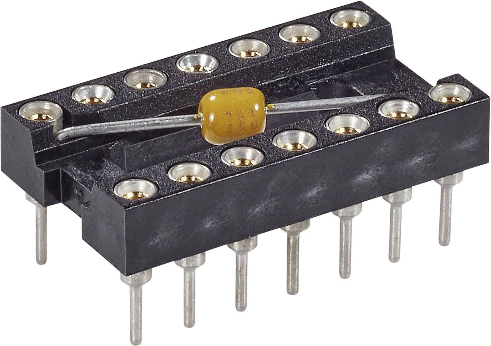 IC pätica MPE Garry 001-3-008-3-B1STF-XT0 presné kontakty, s kondenzátorom, rozteč 7.62 mm, pólů 8, 1 ks
