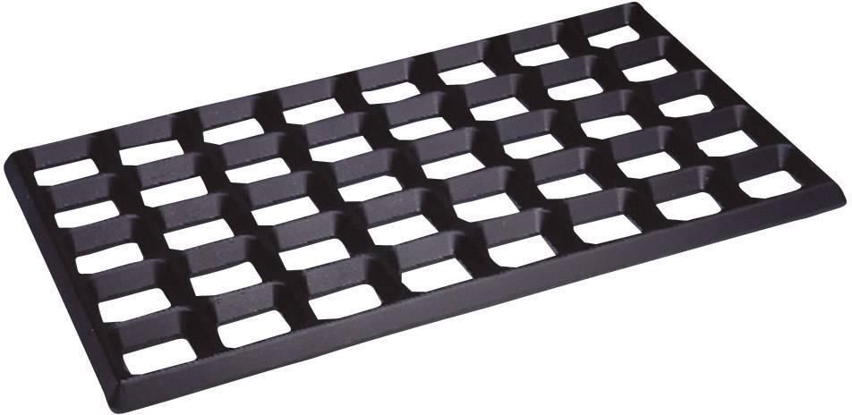 ESD montážna rohož mriežkovaná BJZ C-187 625, (d x š x v) 610 x 370 x 20 mm, čierna
