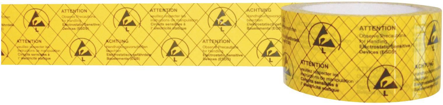 ESD lepiaca páska BJZ C-195 005-PP, (d x š) 50 m x 50 mm, 1 roliek, žltá, čierna