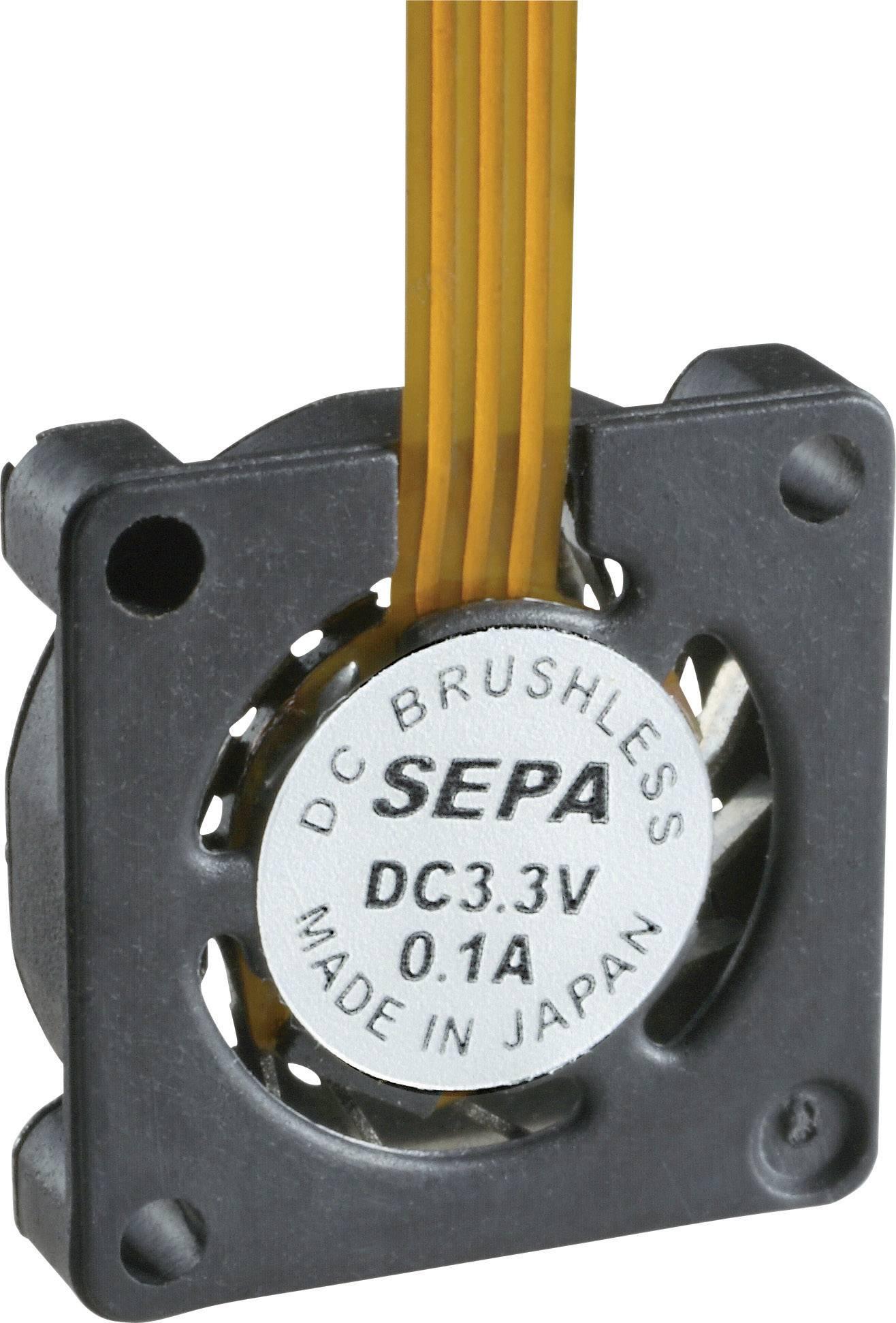 Axiálny ventilátor SEPA HY_10A03A-ST 101011014, 3.3 V/DC, 1.6 dB (A), (d x š x v) 10 x 10 x 2 mm