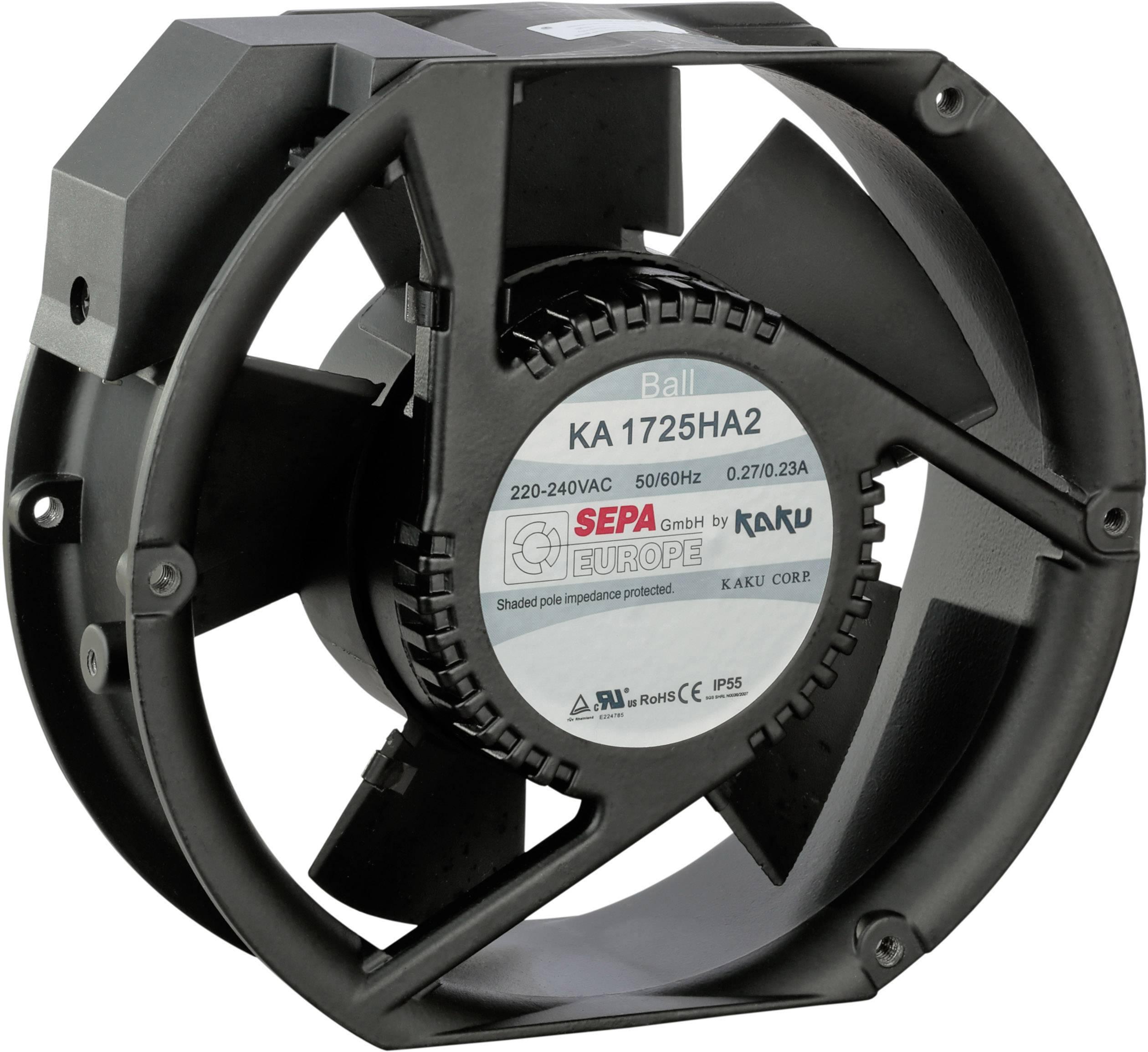 Axiálny ventilátor SEPA KA1725HA2BMT/Mg 861578403, 230 V/AC, 57 dB, (d x š x v) 173 x 150 x 51 mm