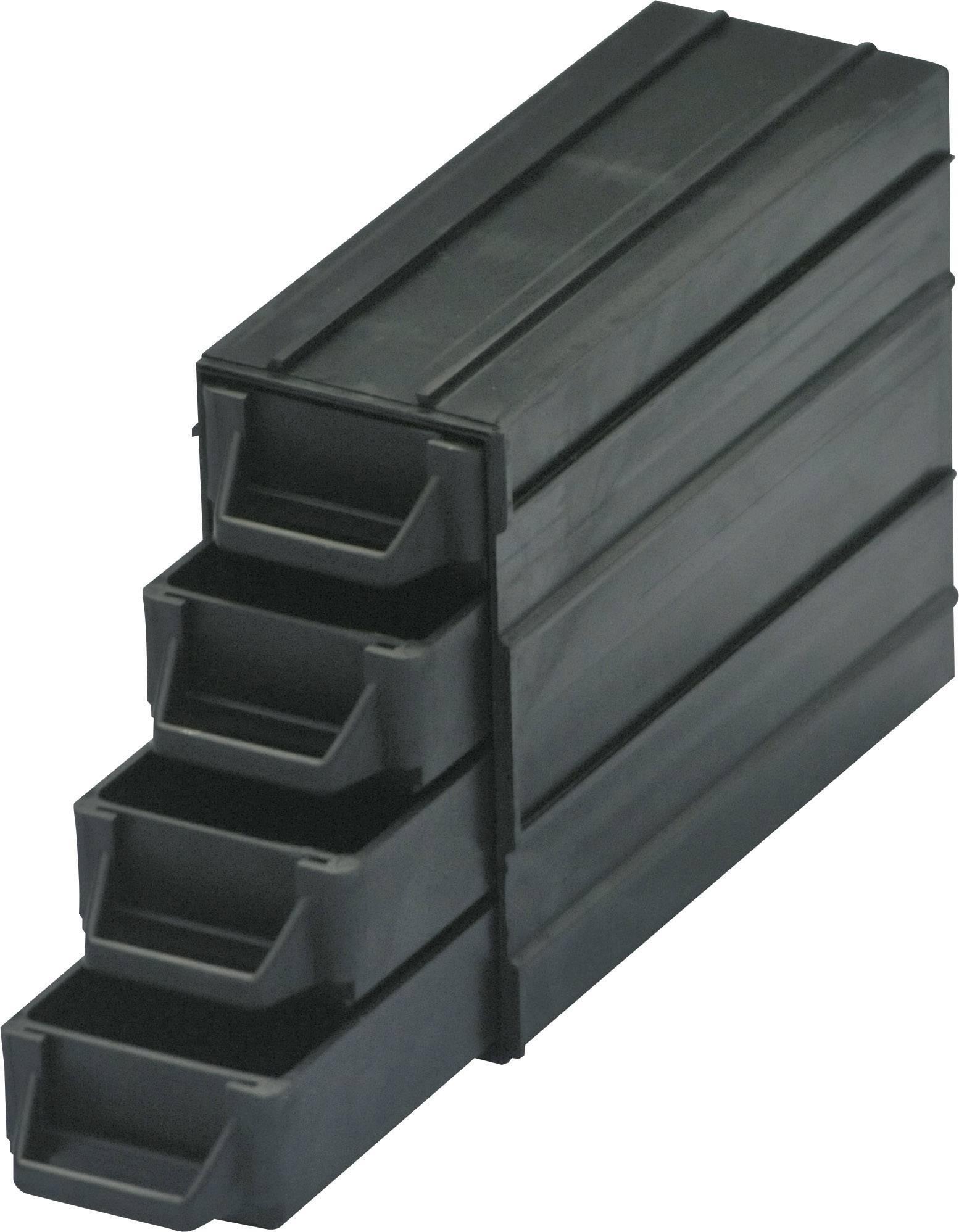ESD zásobník na malé diely BJZ C-188 054, (d x š x v) 120 x 40 x 20 mm, čierna
