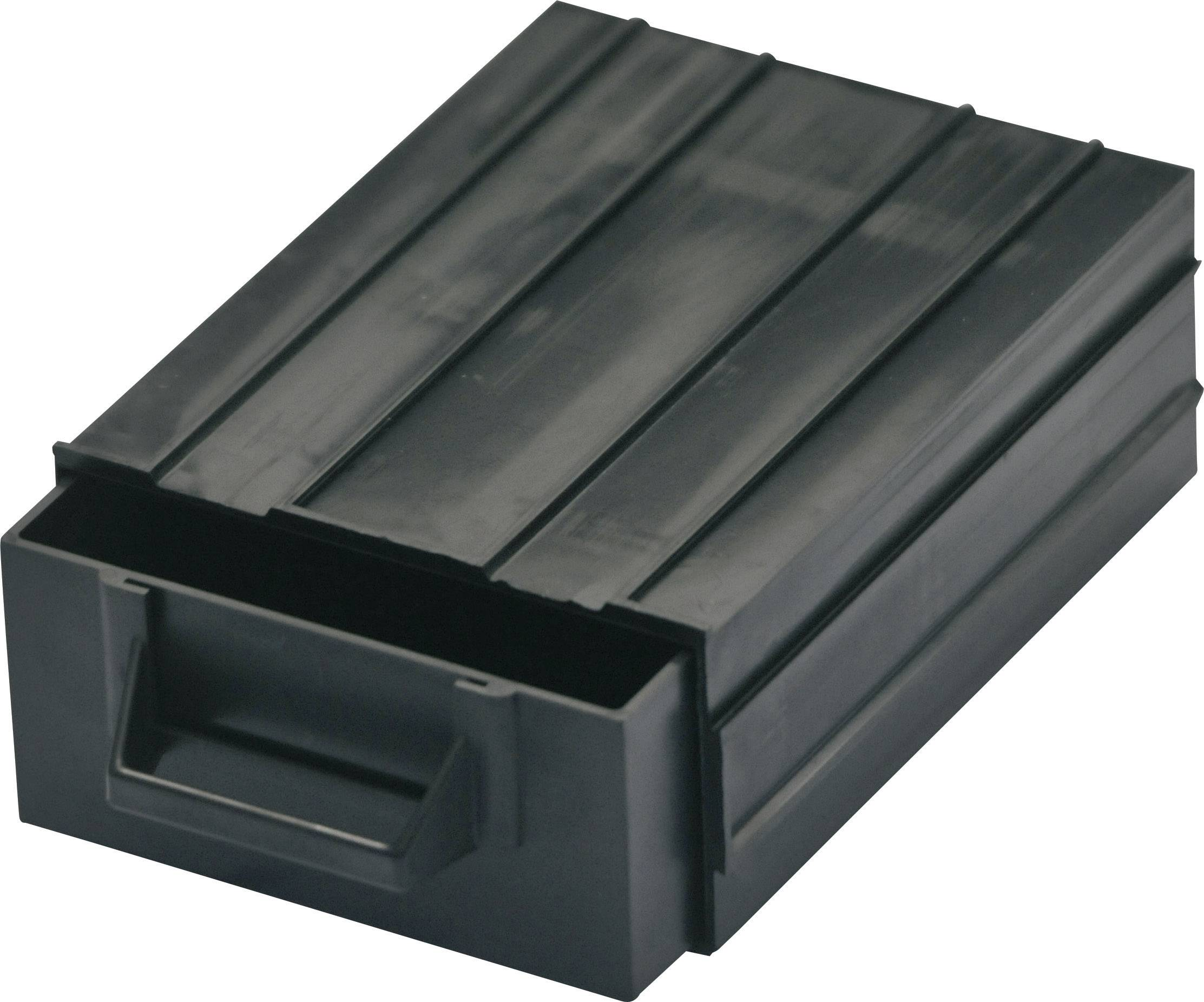 ESD zásobník na malé diely BJZ C-188 101, (d x š x v) 120 x 87 x 40 mm, čierna