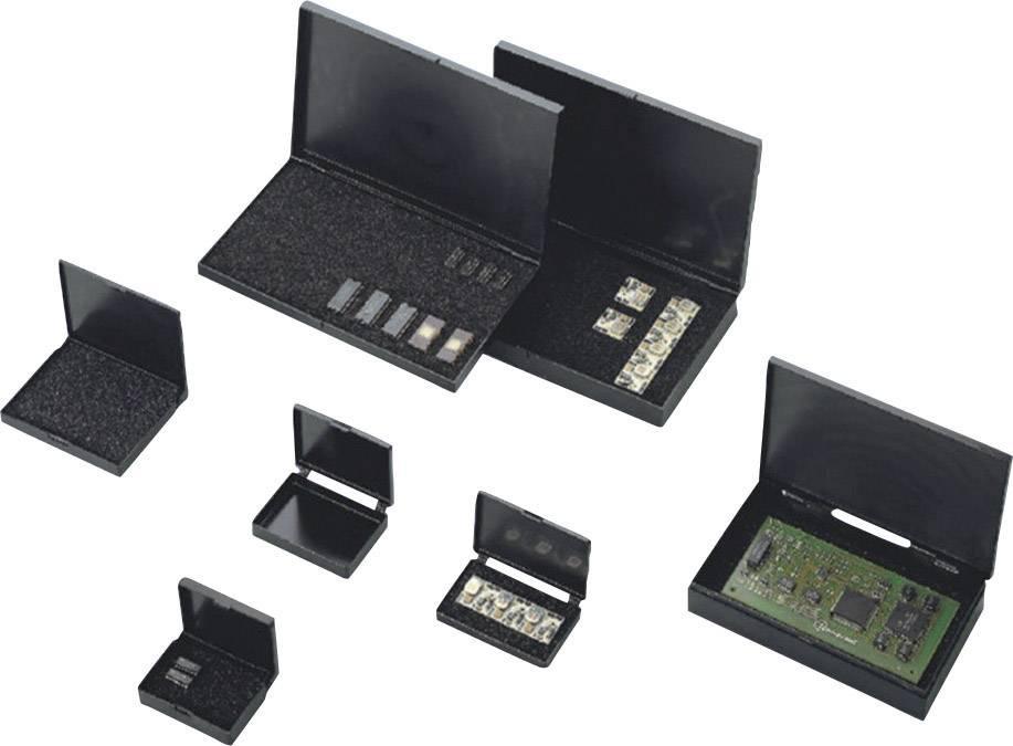 ESD pouzdro s víkem s panty a s pěnovou vložkou BJZ C-186 257, (d x š x v) 80 x 54 x 17 mm, černá