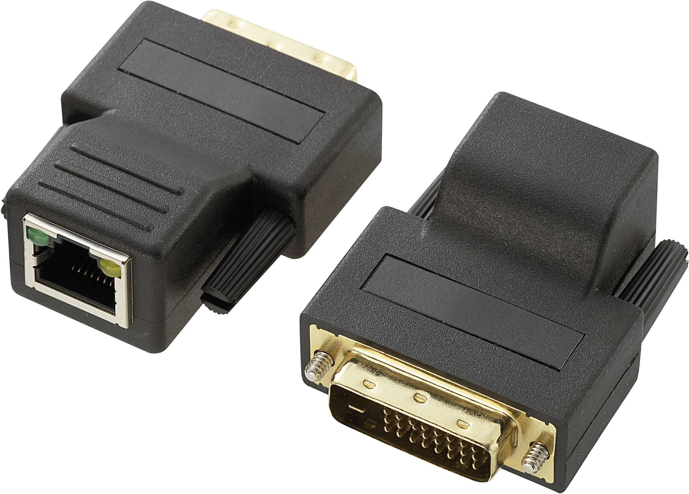 DVI extender (predĺženie) cez sieťový kábel RJ45, Renkforce 70 m, N/A