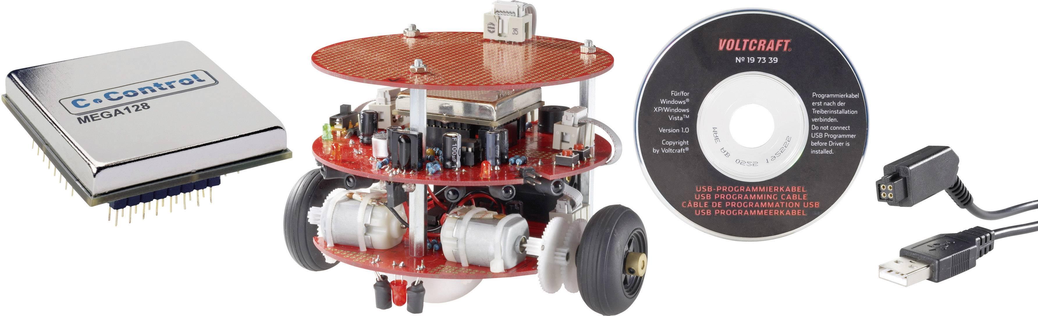 Stavebnica robota + programovacia jednotka + USB kábel, C-Control PRO-BOT128, súprava