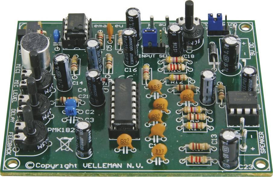 Digitálny echo generátor stavebnica Velleman MK182, 9 V/DC, 12 V/DC