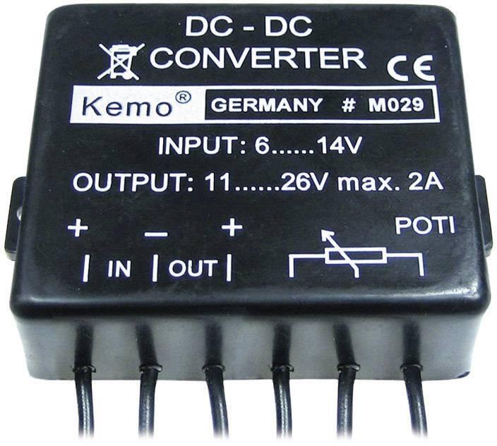 Menič napätia Kemo M029, 11 - 26 V/DC